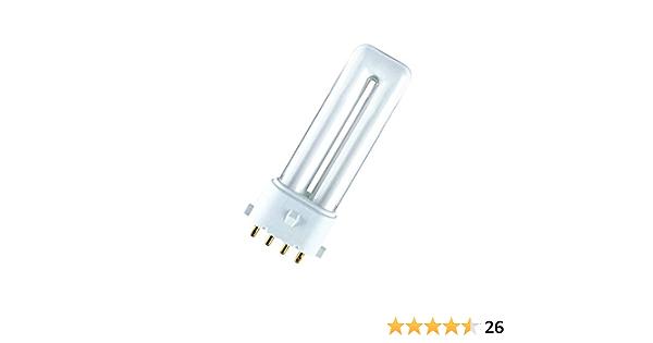 Osram 7W Dulux S//E 2G7 Cap Cool White Colour 840 Compact Fluorescent Lamp