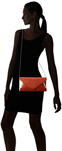 Spacious Crossbody amp; Bmc Accent detachable Bright Formal Fashion W white Orange Shoulder Chain Purse Clutch Womens Various Leather Evening Pu Handbag Colors Two Tone Envelope Chic Bag W qa48Tq