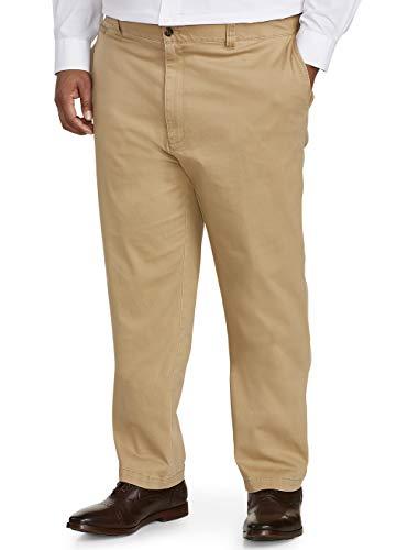 - Amazon Essentials Men's Big & Tall Athletic-fit Casual Stretch Khaki Pant fit by DXL, Dark, 48W x 32L
