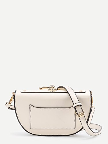 Saddle Crossbody Top Bags Shoulder Flap White With Women's Handle Withchic Ring qtxEYHg
