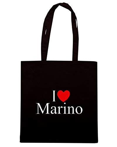 Borsa Shopper Nera TLOVE0107 I LOVE HEART MARINO