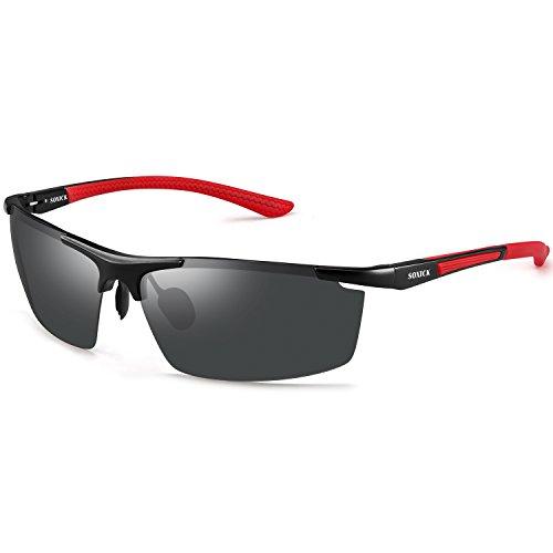 - SOXICK Men's Polarized Sports Sunglasses UV400 Metal Fashion Driving Sunglasses