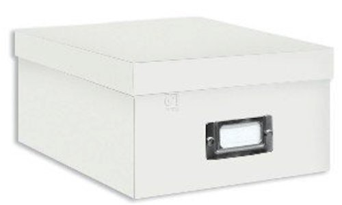 Pioneer Photo Albums B-1C Photo Storage Box, Crafter White