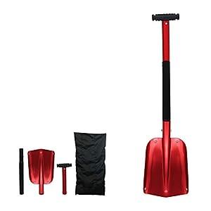 72HRS Aluminum Compact Multi-Purpose Snow Shovel Includes Drawstring Bag (26''-32'')