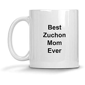 Best Zuchon Mom Ever Dog Mug - 11 oz White Coffee Cup - Funny Novelty Gift Idea 2