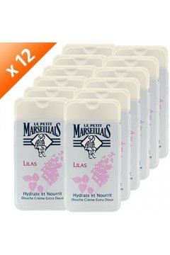 Le Petit Marseillais 1 Bottle of Body Wash Your Choice, French Shower Cream 6 Varieties 250ml (8.4oz) (Lilas (Lilac))