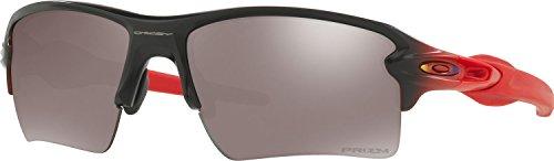 Oakley Men's Flak 2.0 Xl Polarized Iridium Rectangular Sunglasses, Ruby Fade, 59 - Polarized Red Oo Iridium