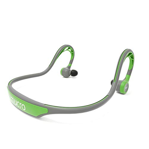 MUCRO Wireless Bluetooth Earbuds Behind Neck, Running Ear Phones with Mic,Sweatproof Built-in Stereo Noise Cancelling Headphones for Sports Gym Workout(Green)