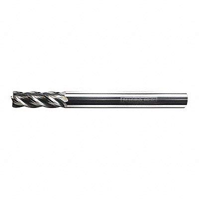 Micro 100 VHM-001-4X 4 Flute Variable Helix with Corner Radius End Mill, AlTiN Coated, 1