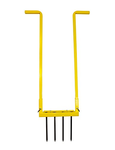 Garden Hand Tiller Montana Made Narrow Broadfork Heavy Duty All Steel Powder Coated Finish Perfect for Grow Beds and Planters by Garden Growers Supply