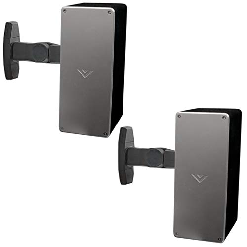 Echogear Universal Speaker Wall & Ceiling Mount Pair - Tilt & Swivel Without Tools - Easy to Install Indoors & Outdoors - Works with Vizio, Sony, Bose & More