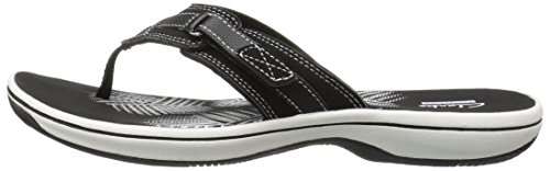 CLARKS Women's Breeze Sea Flip Flop, New Black Synthetic, 8 M US by CLARKS (Image #5)