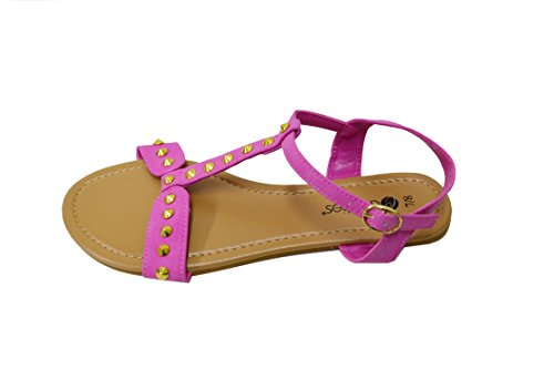 Dames Sandalen Bezaaid Comfortabele Klassieke Flats (gs-6340) Roze