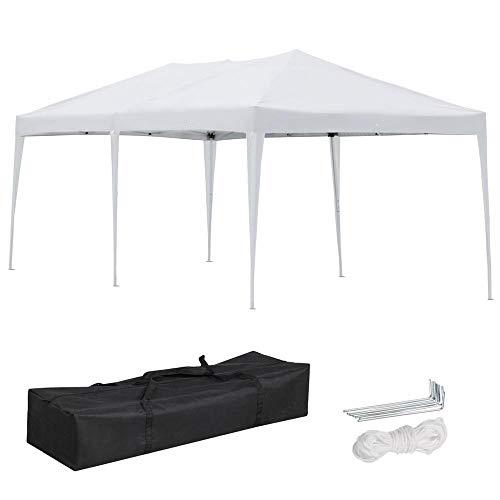 Yaheetech Pop Up Canopy Party Tent 10 x 20' - Heavy Duty Folding Wedding Party Patio Outdoor Waterproof W/Bag ()