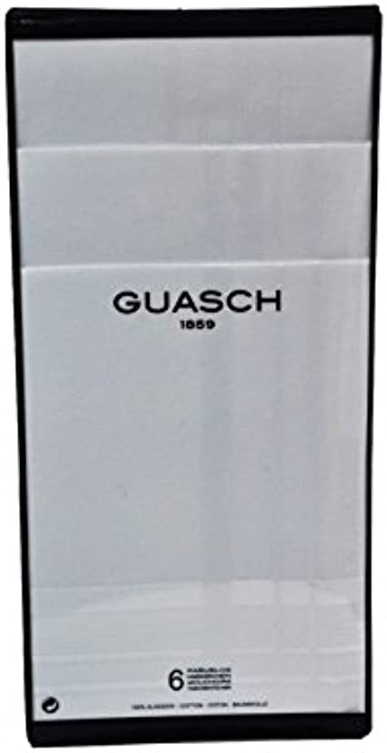 Guasch - Pack 6 Pañuelos Hombre Blancos 100% Algodón - BLANCO, U ...
