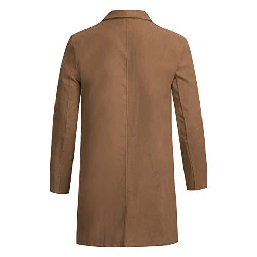 Bellelove vent Veste Coupe Costume Manches Trench À D'hiver Pour Bouton Kaki Slim coat Homme Longues Manteau Top Automne Hommes Blouse Outwear HUTWBn78