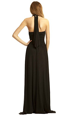 Maxi Abend Black Polly Kleid IKRUSH Womens gAEwxt
