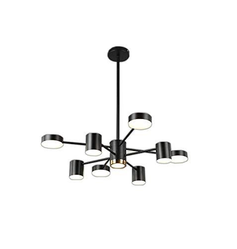 HYYK Acrylic Chandelier, 8-Lights Modern Pendant Lights LED Energy-Saving Ceiling Light for Bedroom Living Room 111v~240v ()