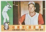 1960 Topps Regular (Baseball) Card# 257 gordy coleman of the Cincinnati Reds Ex Condition