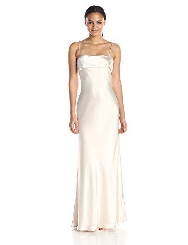 ABS Allen Schwartz Women's Bias Cut Slip Gown, Vintage Vanilla, 2