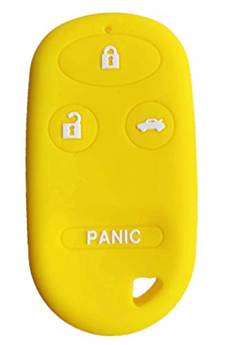 Rpkey Silicone Keyless Entry Remote Control Key Fob Cover Case protector For Acura TL Honda Accord CR-V Civic Insight Odyssey Pilot Prelude S2000 KOBUTAH2T A269ZUA101 A269ZUA108 CWT72147KA(yellow)