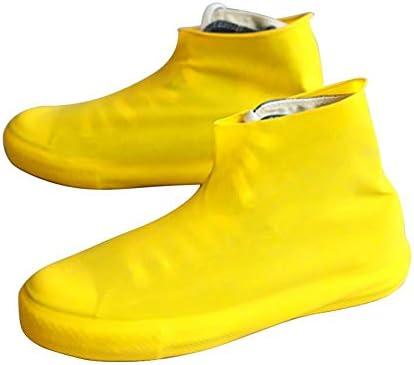 シューズカバー 5足 靴カバー 防水 軽量 滑り止め 耐久性 携帯便利 梅雨 豪雨 台風対策 雨具 通勤学校に行く 両方の性別 黄色 Sサイズ