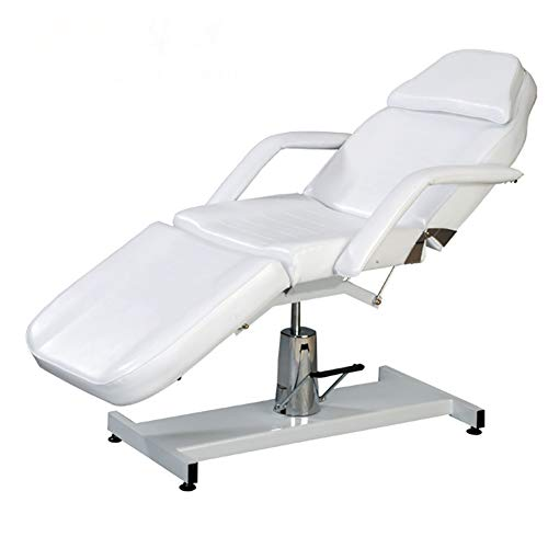 SUN RDPP Tables Massage Table Fold Portable Tattoo Facial Care Bed Beauty Salon and Chair, White
