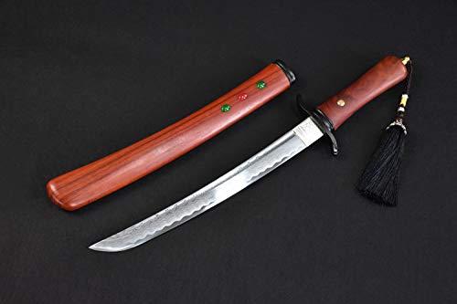 - Yongli Sword Handmade Short Katana Japanese wakizashi Tanto Samurai Sword Sharp Blade Carbon Steel Folded Steel (High Manganese Steel)