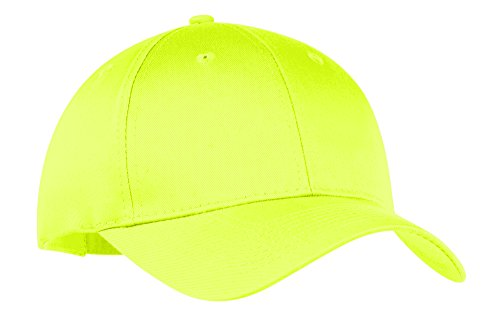 LogoUp Brushed Twill Sandwich Hat- Neon Yellow Brushed Twill Sandwich