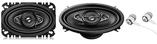"""Pioneer TS-A4670F 4"""" x 6"""" 210 Watts Max 4-Way A-Series Car Audio Coaxial Speakers with Carbon and Mica Reinforced IMPP Woofer"""