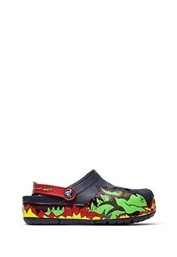crocs Jungen CrocsLights Fire Dragon Clog Kids Navy