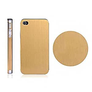 Brushed Metal Style Back Case for iPhone4/4S(Assorted Color) , Silver