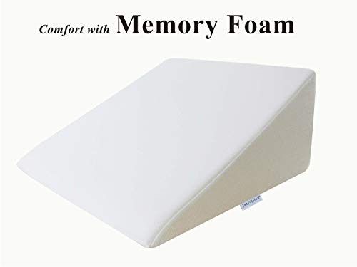 InteVision Foam Wedge Bed Pillow (25'' x 24'' x 12'') with High Quality, Removable Cover by InteVision