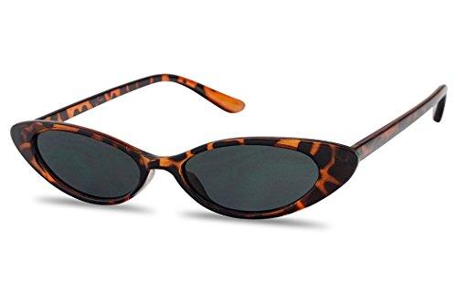 1ac56dd53 Mini Vintage Retro Extra Narrow Oval Round Skinny Cat Eye Sun Glasses Clout  Goggles