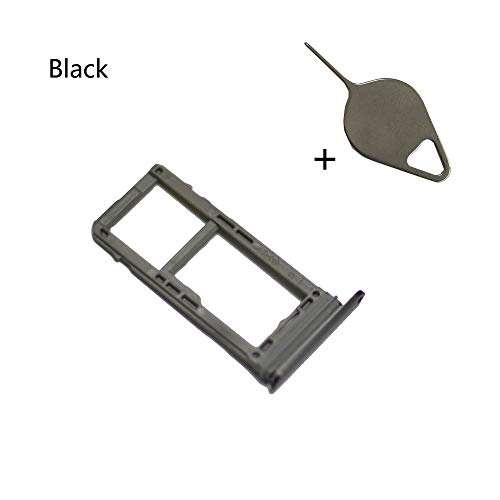 EagleStar Note 8 Replacement (Single Sim) Card Holder+Micro SD Card Holder Slot Tray+Eject Pin Tool for Samsung Galaxy Note 8 N950 (Fit All Carrier)-Black