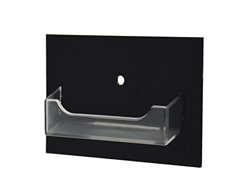 Mount Holder Door Wall Flush (Marketing Holders Single Pocket Gift Card Retail Holder Reward Points Card Display Contact Business Card Holder Display Customize Card Rack Vertical Wall Mount Orgainzer 1 Pocket Black and Clear)