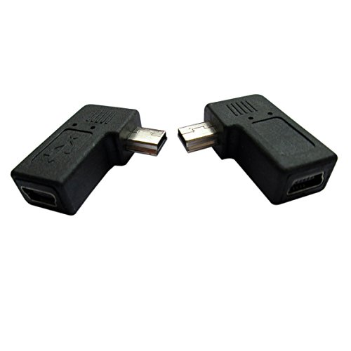 UCEC USB 2.0 Adapter Plug - Left and Right Angle Mini to Mini - Male to Female - Pack of ()