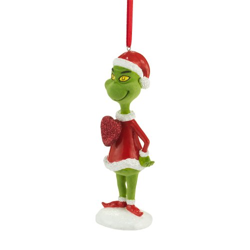 - Department 56 Grinch Big Hearted Hanging Ornament, 5 inch