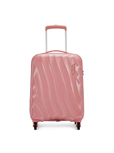 Caprese Polycarbonate 55 cms Coral Almond Hardsided Cabin Luggage (Georgia)