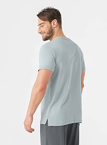 31EDvIwl2BS. AC DAVID ARCHY Men's 2 Pack Soft Cotton Short-Sleeve T-Shirt    Left chest pocketDesigned for Comfort: The T-shirt is lightweight and breathable. Premium cotton features a silky touch for everyday comfort.For Active Lifestyle: Stretchy fabric ensures a perfect fit which allows for great mobility.Improvement on Durability: A new spinning of straight-reverse twist ensures softness and durability which will last for longer.Ideal Gift for Men: The tee shirt is comfy and suitable for all kinds of shapes. It's a ideal birthday, anniversary and holiday gift to your family members or friends.