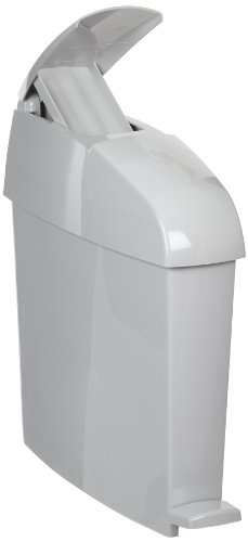 Rubbermaid Commercial Products FG750244 Sanitary Waste Bin (Rectangular, 3-Gallon, 6.1-Inches x 16.5-Inches x 19.3-Inches, Gray)