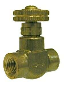 Midland Metal 46754 Brass 1/4Fx1/4F Micro-Metering Valve (Pack Of 10)