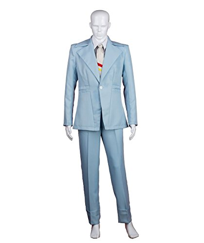 David Bowie Costumes (Halloween Party Online Men's 70's Legendary British Pop Star Costume, Blue)