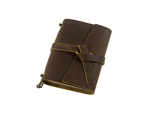 UNIQUE HM&LN Genuine Leather Journal Notebook Refillable Handmade Vintage Dairy Personalized Gift Traveler's Notebook 5.3
