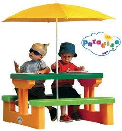 U0026quot;4 Kidsu0026quot; Picnic Table With Umbrella