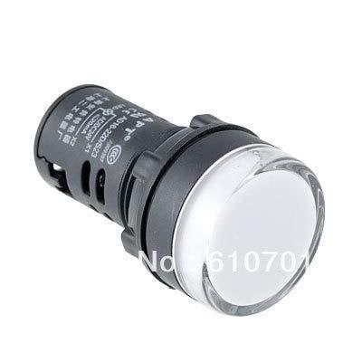 MAO YEYE XB2BVB1C AC/DC 24V Flash LED Signal Light Lamp White Indicator 22mm Mounting Hole