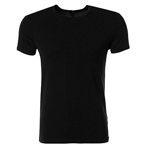 """Versace Underwear """"M/C Girocollo"""" Schwarzes Herren T-Shirt - Micromodal - Größe M (EU/D Gr.5)"""