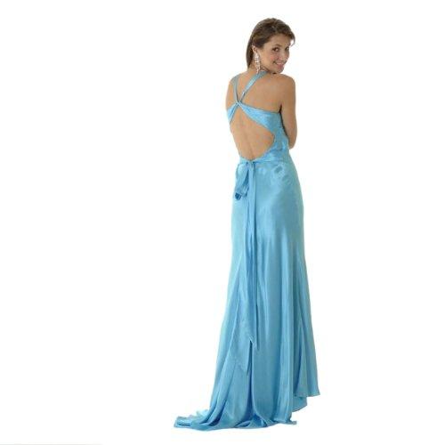 Clarisse Robe De Bal Licol De Soie 9119, Bleu, 10