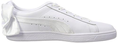 Puma Blanc puma Basket White puma White Wn's Bow Basses Femme Sneakers r7rYq0wC