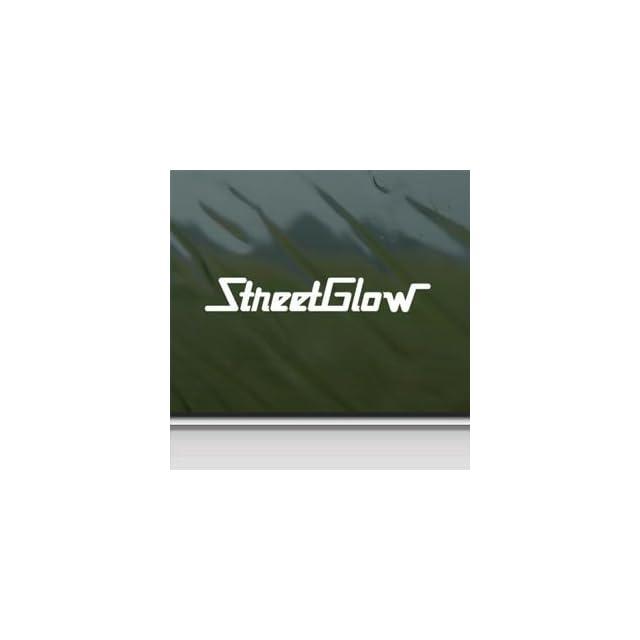 Street Glow White Sticker Decal Car Window Wall Macbook Notebook Laptop Sticker Decal   Decorative Wall Appliques